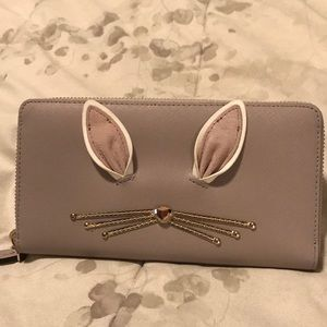 NWT Kate Spade Hop To It Rabbit Neda Wallet